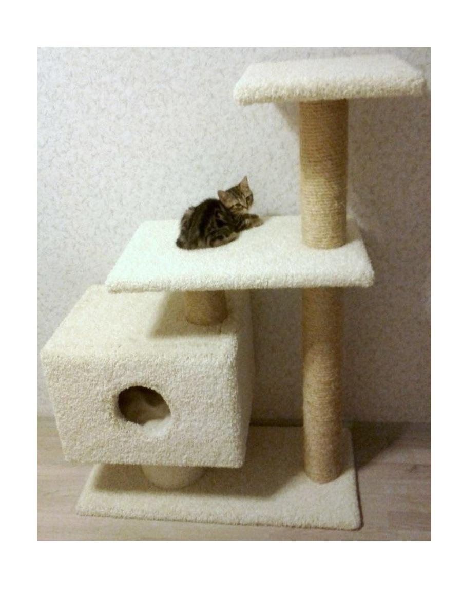 Многоуровневый кошачий домик своими руками 55